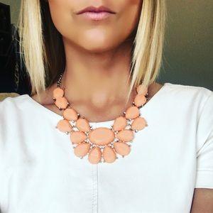 Peach Gemstone Statement Necklace